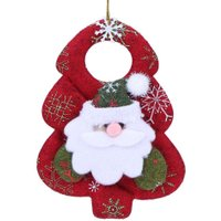 Christmas Decoration Pendant Santa Claus Snowman Elk Bear Household Hanging Christmas Tree Ornaments