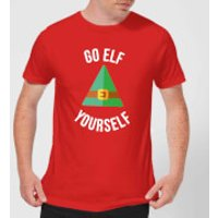 Go Elf Yourself Men's Christmas T-Shirt - Red - M - Red
