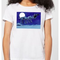 Star Wars AT-AT Darth Vader Sleigh Women's Christmas T-Shirt - White - S - White