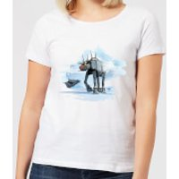 Star Wars AT-AT Reindeer Women's Christmas T-Shirt - White - M - White