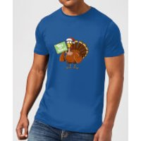 Tofu Not Turkey Men's Christmas T-Shirt - Royal Blue - L - Royal Blue